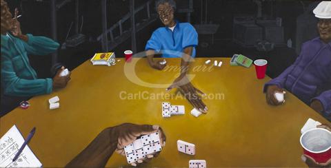 Basement Dominologist (Canvas)