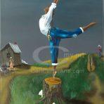 Country Ballerina I (Canvas)